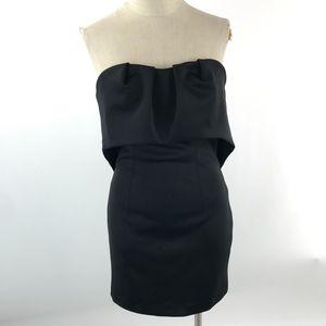 BEBE Women's Strapless Cocktail Dress